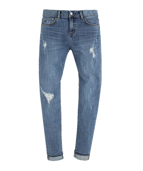 [New York] ACV#8 Bluegray Straight Denim