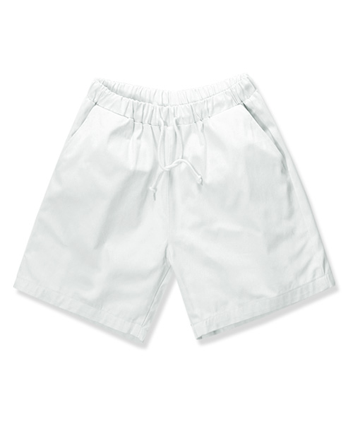 14s Summer Cotton Shorts White