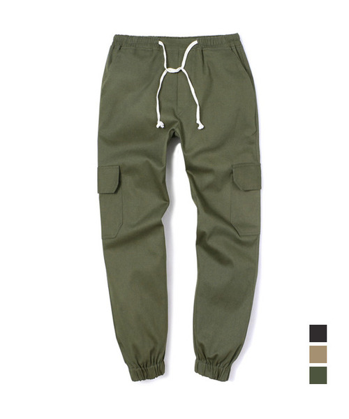 Cotton Cargo Regular Pants Khaki
