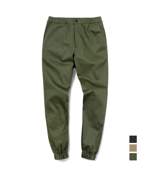 [기모] Jogger Cotton Pants Khaki
