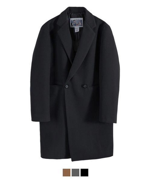 Heavy Line Wool Double Coat Black