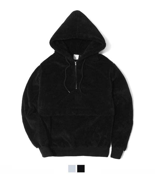 Pile Lined Series Anorak Black