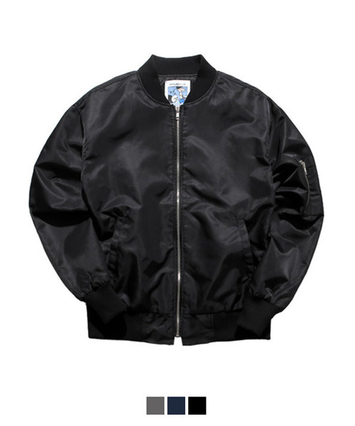 Under Shoulder Ma-1 Jacket Black