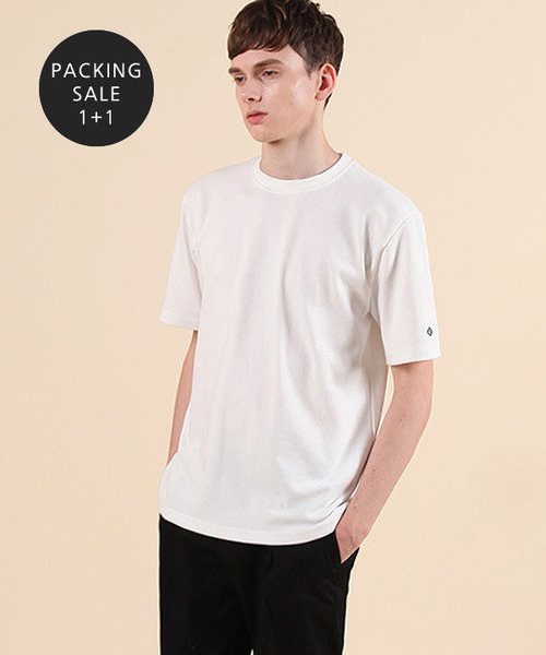 [2월27일예약배송][1+1] Standard Cotton Rib T-shirts
