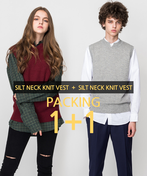 [1+1] Silt Neck Knit Vest #1