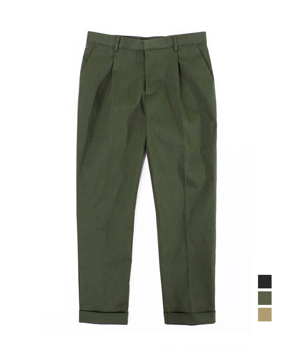 [기모] Regular Cotton Pants khaki