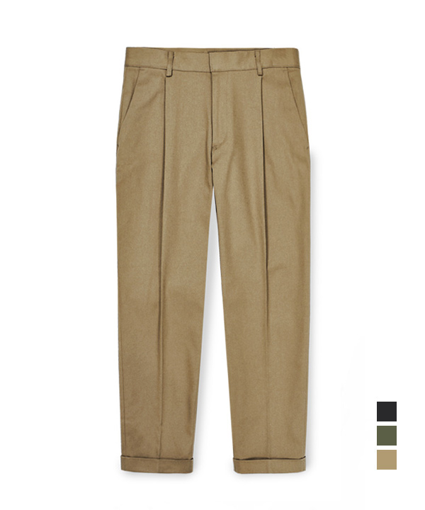 [기모] Regular Cotton Pants Beige