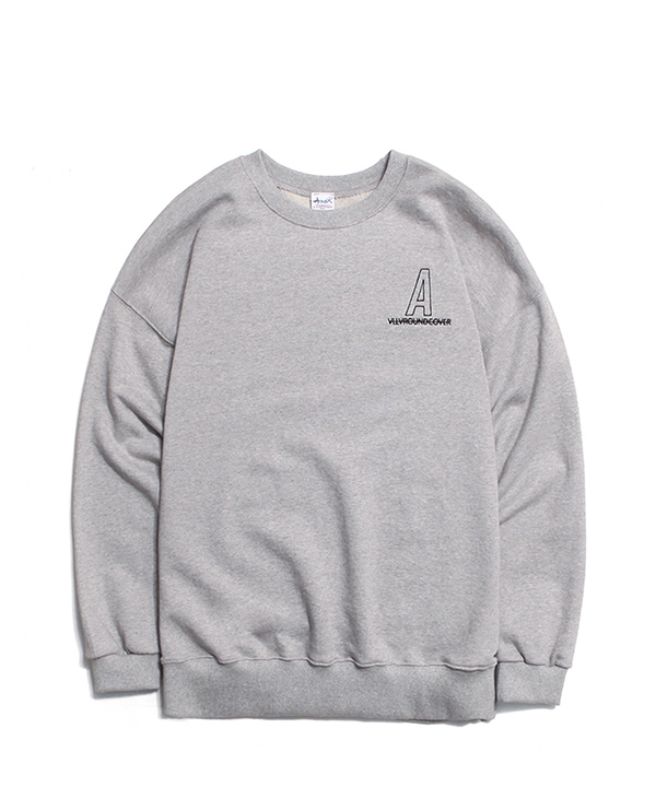 NEEDLEPOINT A LOGO SWEATSHIRTS GRAY