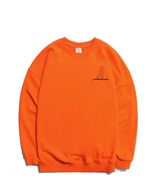 NEEDLEPOINT A LOGO SWEATSHIRTS ORANGE
