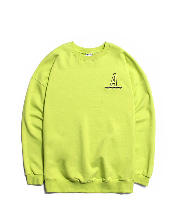 NEEDLEPOINT A LOGO SWEATSHIRTS HIGH LIGHT YELLOW