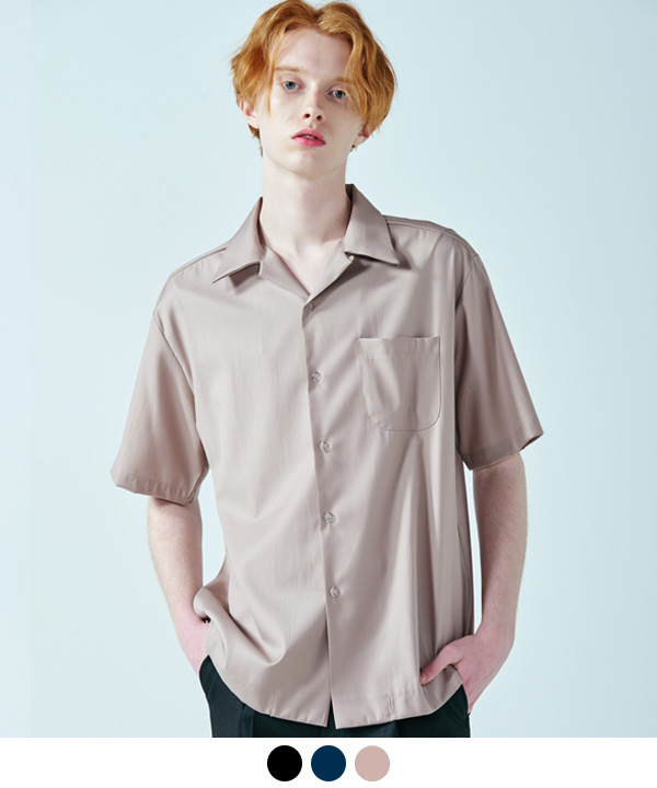 [6/30예약배송]OPEN COLLAR HALF SHIRTS