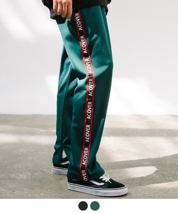 ACOVER TAPE TRACK PANTS