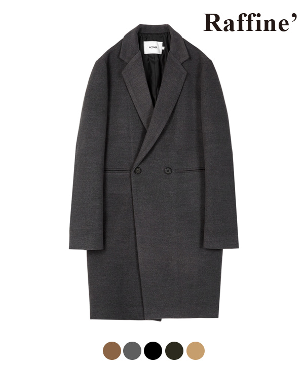 HEAVY WOOL BLEND DOUBLE COAT CHARCOAL