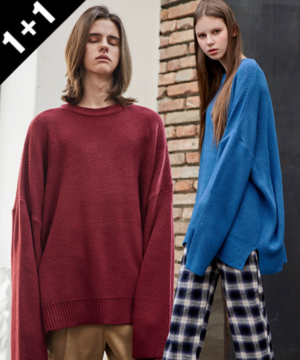 [1+1] VENT LONG CREWNECK SWEATER
