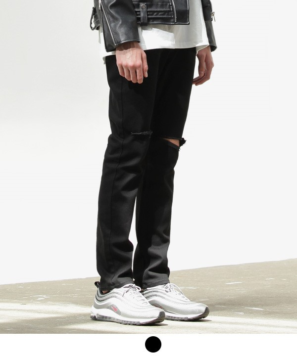 ACOVER Damaged Black Jean