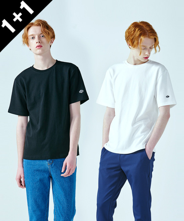 [1+1] Standard Cotton Rib T-shirts