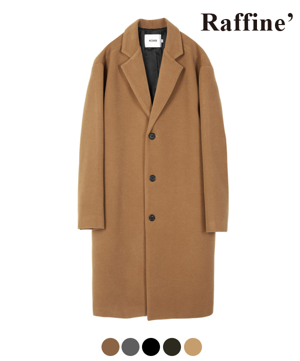 HEAVY WOOL BLEND SINGLE COAT BEIGE