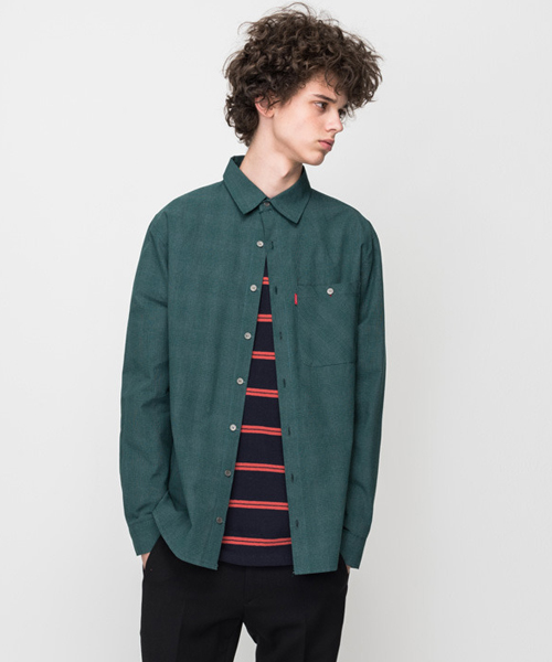 Graph Check Shirt Deep Green