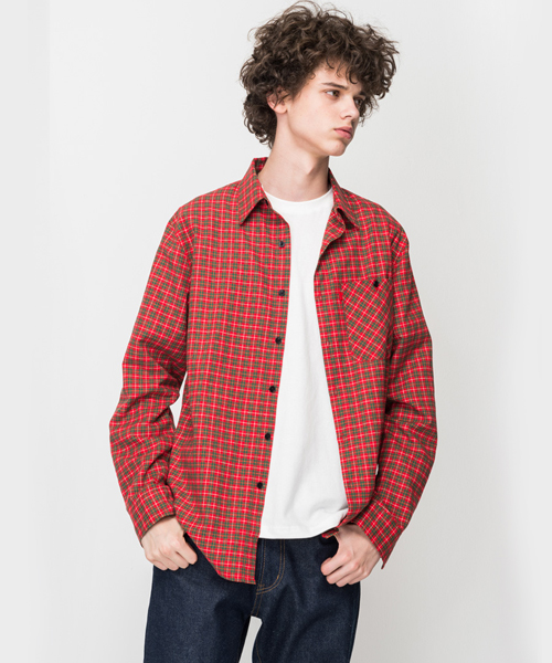 Gari Check Pocket Shirt Red