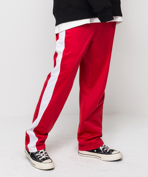 Banding Track Pants Red
