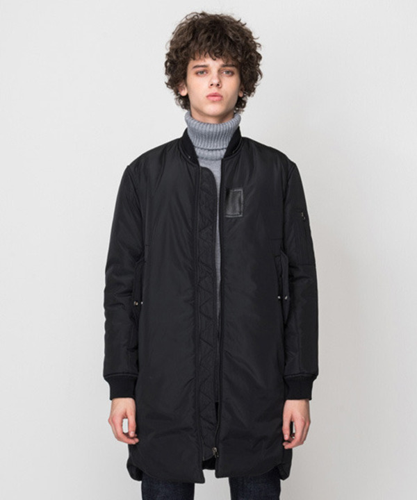 [MA-1 6oz] Long Padding Jacket Black