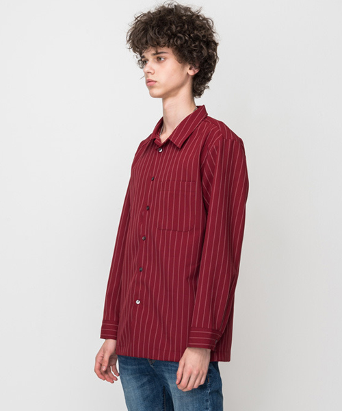 Twin Stripe Shirts Wine