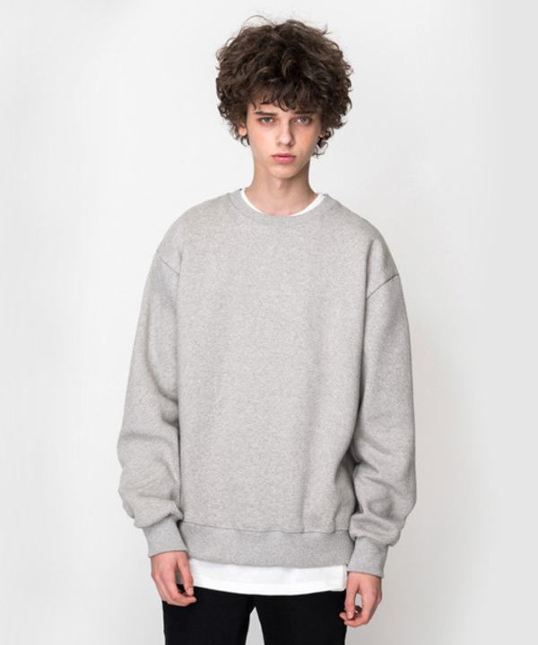 [기모] 650g Over Fit Heavy Tumble Sweat Shirt