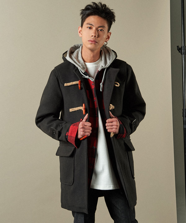 Wool Duffle Coat Black