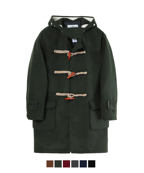 Wool Duffle Coat Khaki