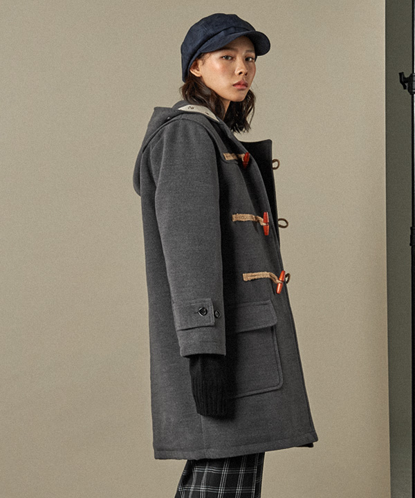 Wool Duffle Coat Charcoal