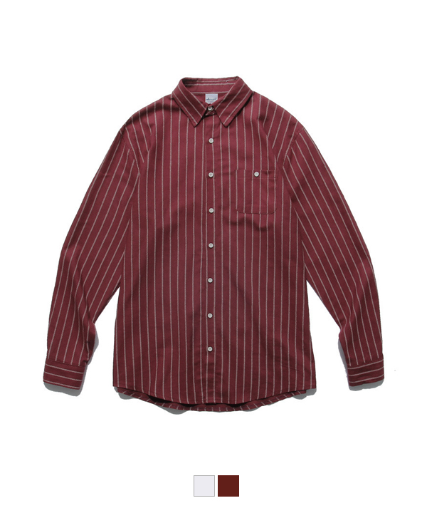 Bird Stripe Shirt Burgundy