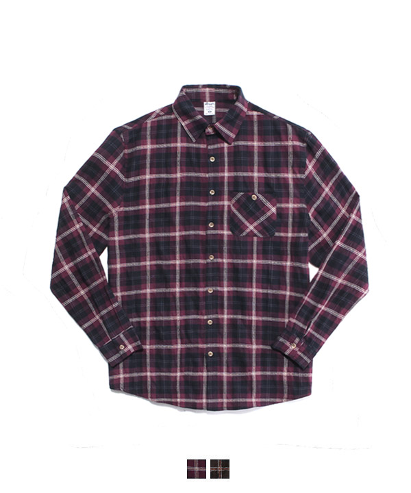 Loco Embo Check Shirts Purple