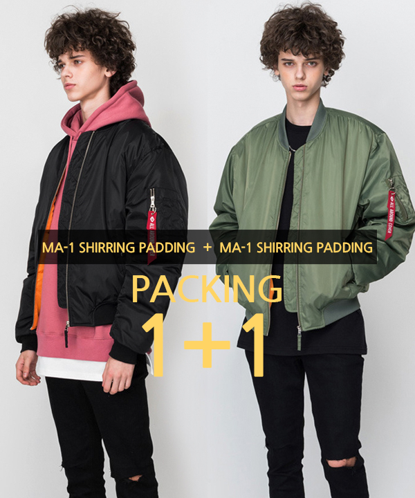 [1+1] [MA-1 6oz] Shirring Padding Jacket