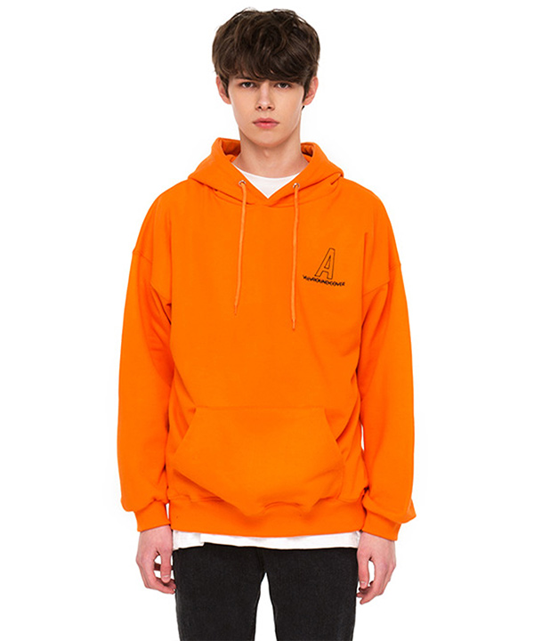 NEEDLEPOINT A LOGO HOODIE ORANGE