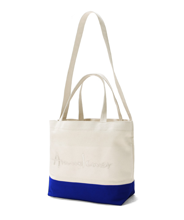 DOUBLE STRAP TOTE BAG COBALT