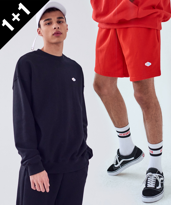 [1+1] DOUBLE WAPPEN BASIC SWEATSHIRTS + WAPPEN BASIC SWEAT SHORTS