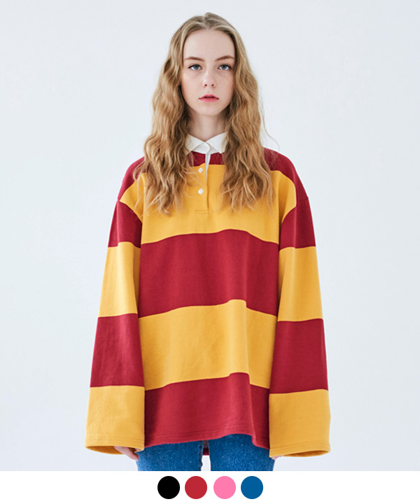 LONG STRIPE RUGBY SHIRT