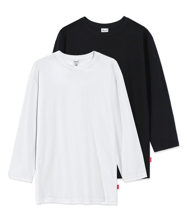 [4월28일예약배송][1+1] 7부 Regular Fit MuJi T-shirts