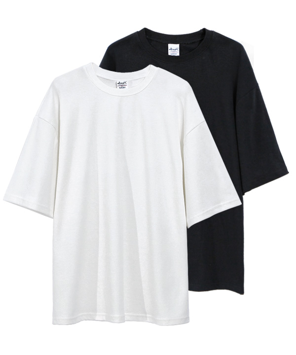 [4월27일예약배송][1+1] 5부 Over Fit Double Cotton T-Shirts