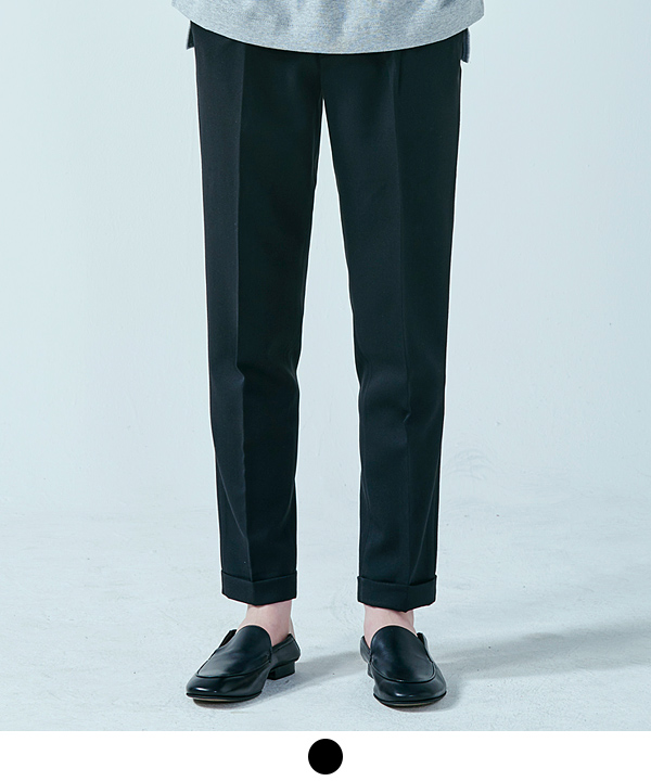 [9월29일 예약배송] Onetuck Regular Slacks Black