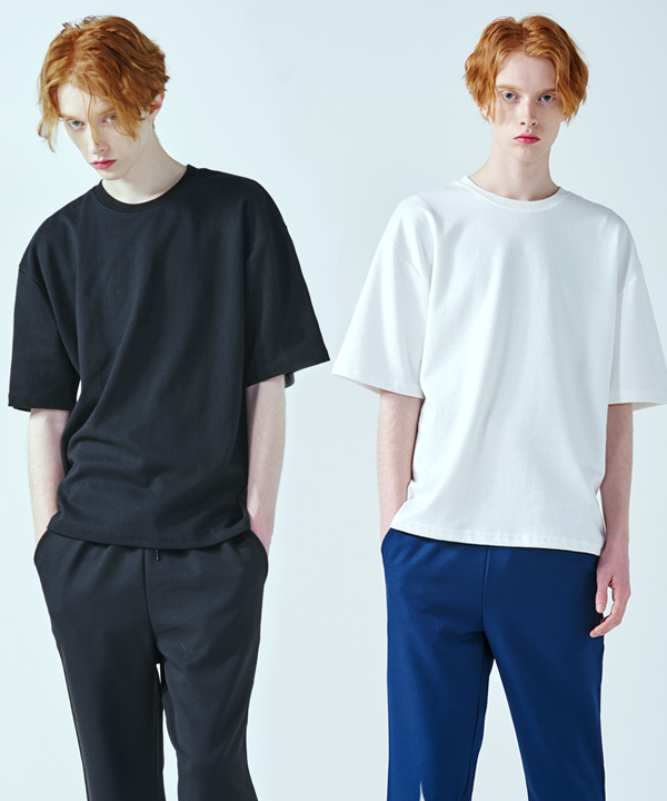 [1+1] 5부 Over Fit Double Cotton T-Shirts