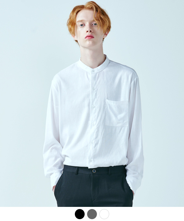 [8월21일예약배송]FLIMSY LINEN CHINA NECK SHIRTS