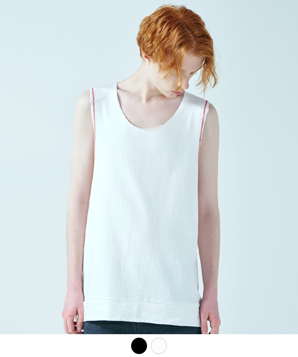 SLEEVELESS LINE POINT T-SHIRT