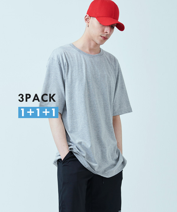 [3PACK] BASIC COOL SIDE-VENT T-SHIRTS