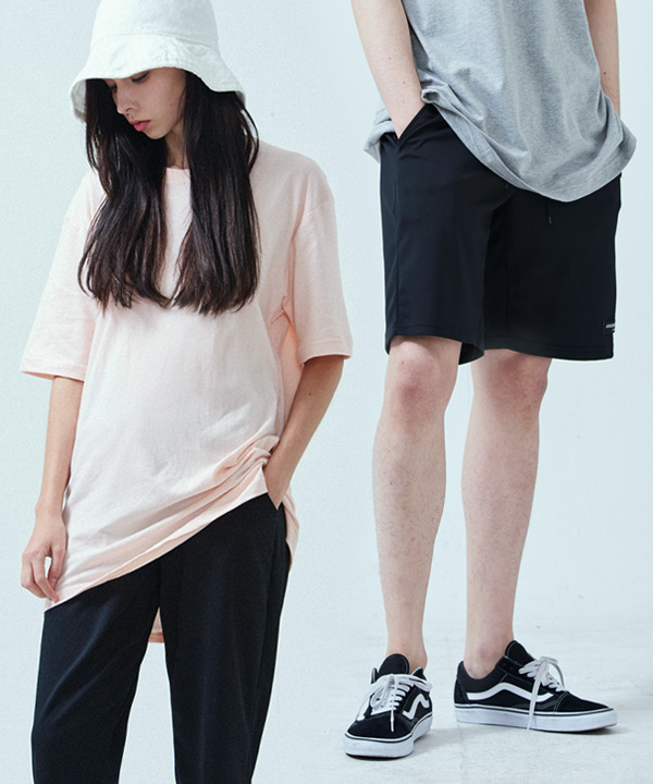 [1+1] BALANCE BANDING SHORTS + BASIC COOL SIDE-VENT T-SHIRTS