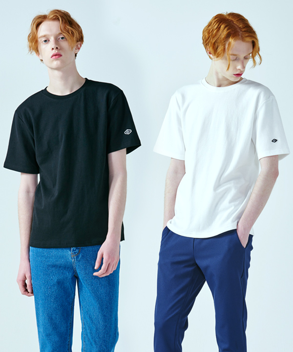 [9월28일 예약배송] [1+1] Standard Cotton Rib T-shirts