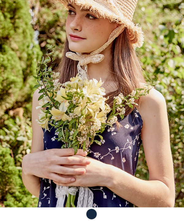FLOWERS SLIP DRESS