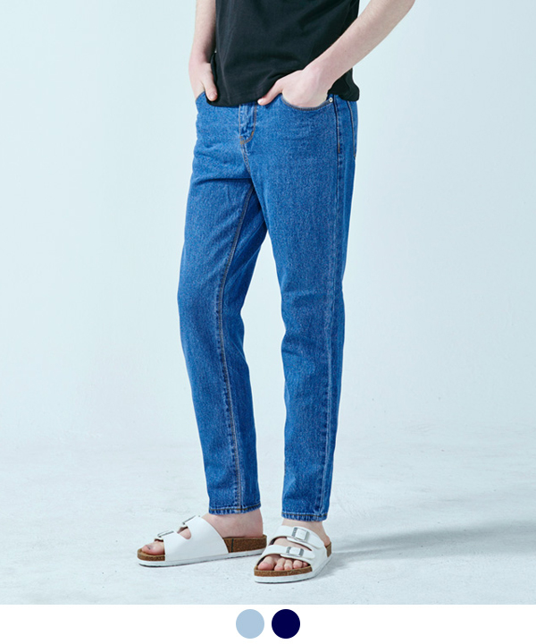 Indigo Blue Tapered Denim Pants