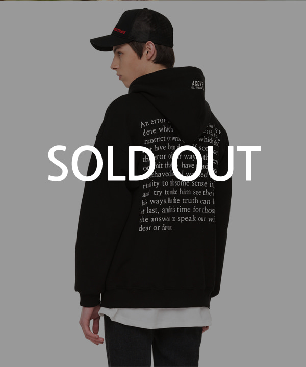 BACK SIDE LETTERING HOODIE BLACK