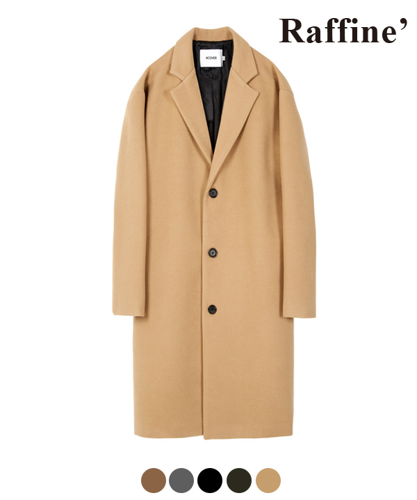 HEAVY WOOL BLEND SINGLE COAT LIGHT BEIGE
